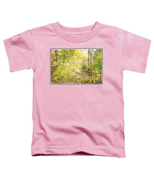 Glimpse Of A Stream In Autumn Toddler T-Shirt