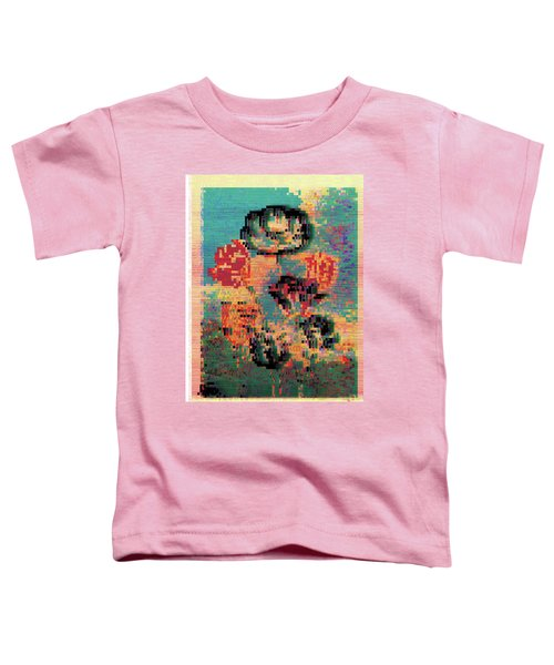 Glitched Tulips Toddler T-Shirt