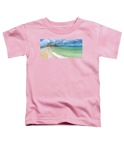 Goff's Caye Belize Pano Toddler T-Shirt