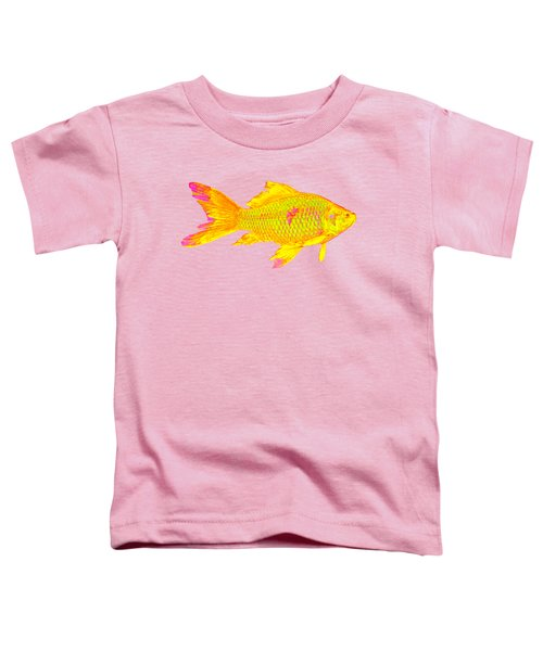 Gold Fish On Striped Background Toddler T-Shirt