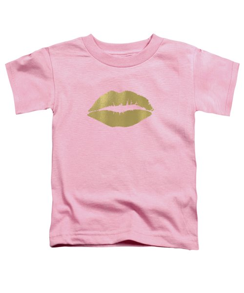 Gold Lips Kiss Toddler T-Shirt
