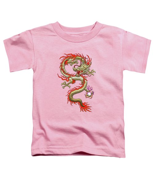 Golden Chinese Dragon Fucanglong On Rice Paper  Toddler T-Shirt
