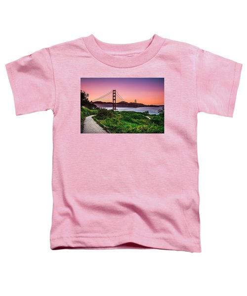 Golden Gate Bridge San Francisco California At Sunset Toddler T-Shirt