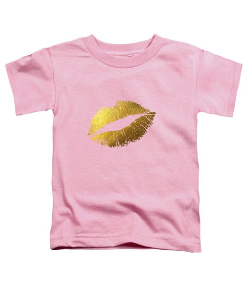 Gold Lips Toddler T-Shirt by BONB Creative