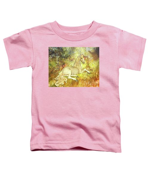 Golden Unicorn Dreams Toddler T-Shirt