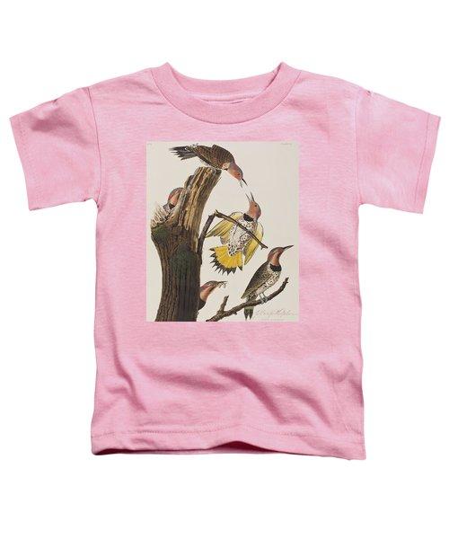 Golden-winged Woodpecker Toddler T-Shirt by John James Audubon