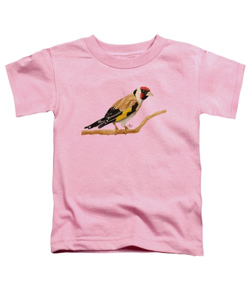 Goldfinch Toddler T-Shirt by Angeles M Pomata