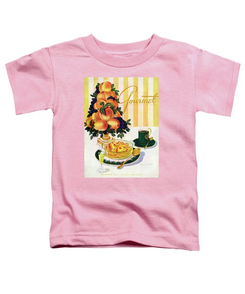 Gourmet Cover Featuring A Centerpiece Of Peaches Toddler T-Shirt