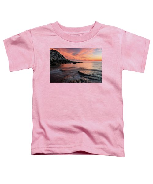 Granite Sunset Rockport Ma. Toddler T-Shirt