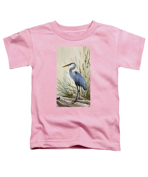 Great Blue Heron Shore Toddler T-Shirt