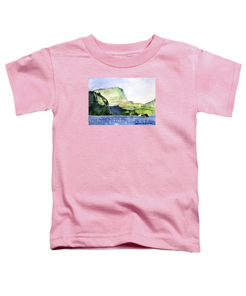 Green Cliffs And Sea Toddler T-Shirt