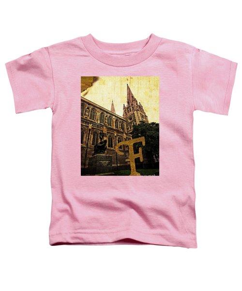 Grungy Melbourne Australia Alphabet Series Letter F Captain Matt Toddler T-Shirt