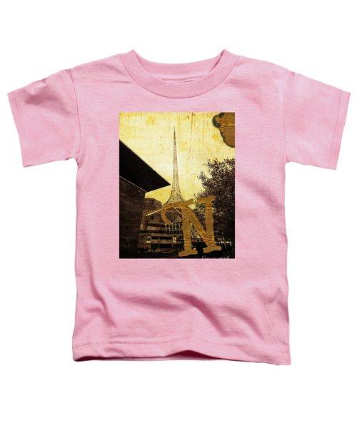 Grungy Melbourne Australia Alphabet Series Letter N National Gal Toddler T-Shirt