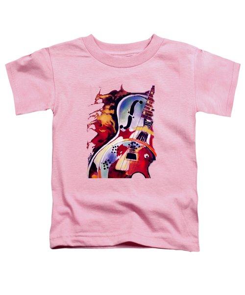 Guitar Flow Toddler T-Shirt by Melanie D