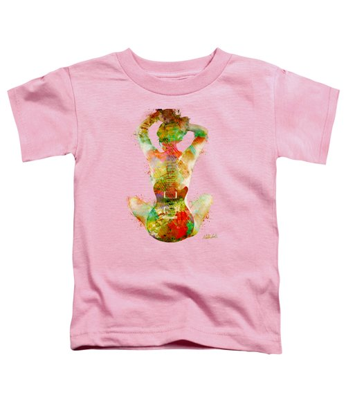 Guitar Siren Toddler T-Shirt by Nikki Smith
