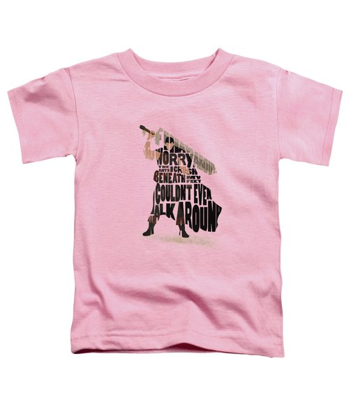 Guts Typography Art Toddler T-Shirt