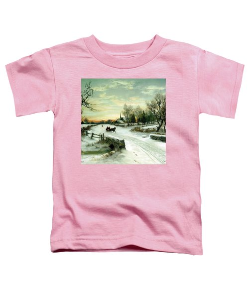 Toddler T-Shirt featuring the painting Happy Holidays by Travel Pics