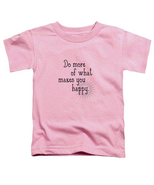 Text Art Happy Toddler T-Shirt