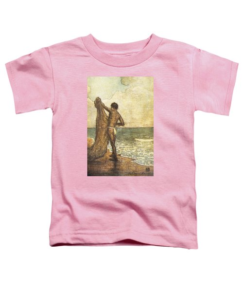 Hawaiian Fisherman Painting Toddler T-Shirt