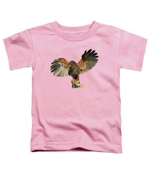Hawk Flapping Wings Watercolor Painting Toddler T-Shirt