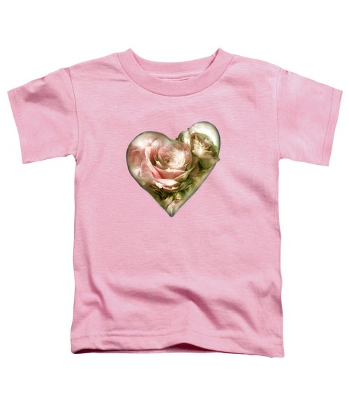 Heart Of A Rose - Antique Pink Toddler T-Shirt