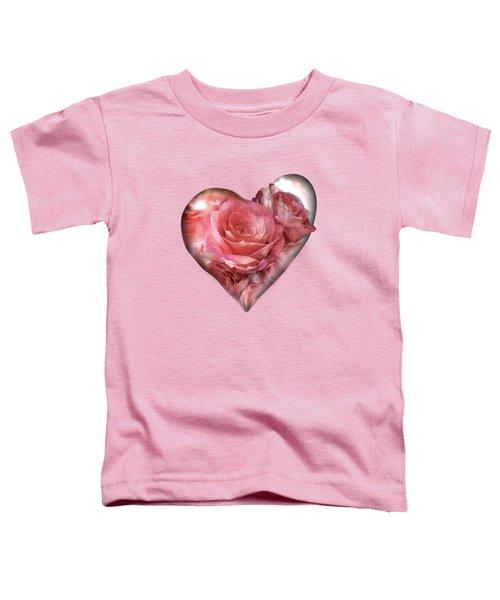 Heart Of A Rose - Melon Peach Toddler T-Shirt