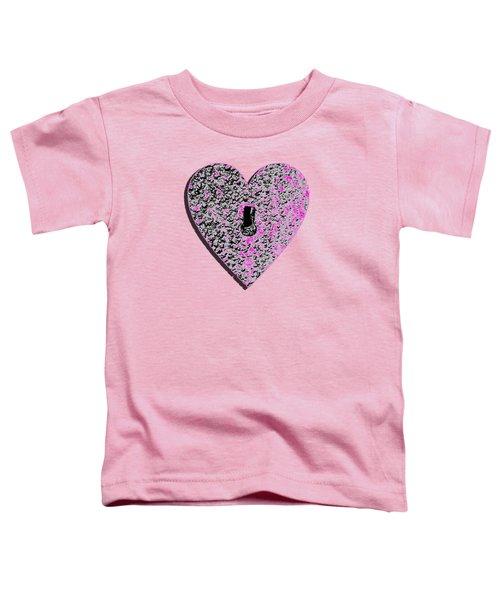 Heart Shaped Lock Pink .png Toddler T-Shirt
