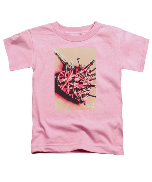 Hearts And Screws Toddler T-Shirt