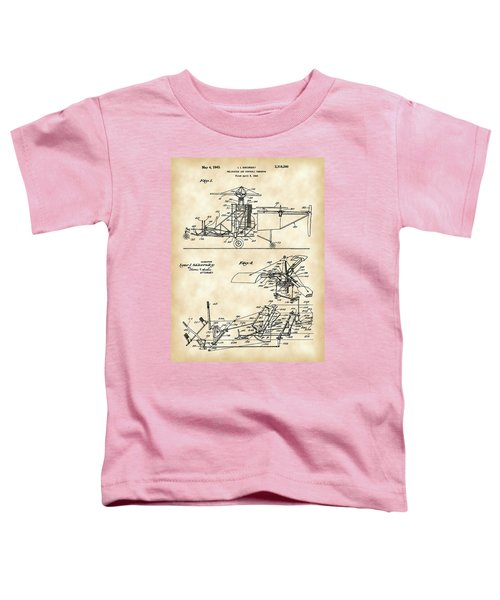Helicopter Patent 1940 - Vintage Toddler T-Shirt