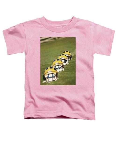Helmets On Yard Line Toddler T-Shirt