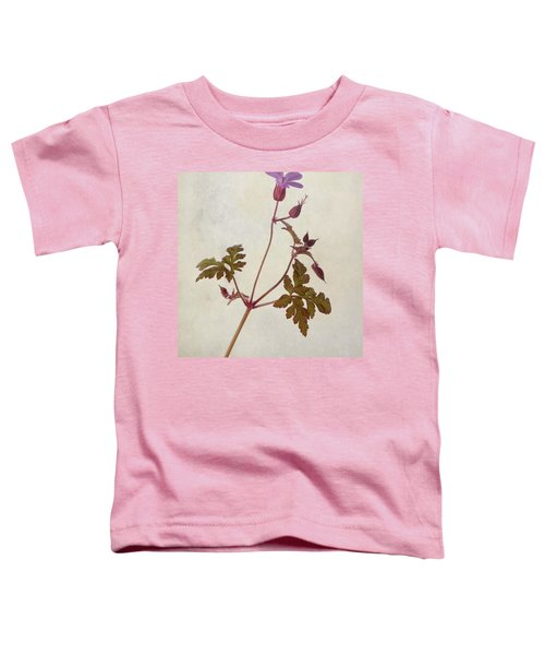 Herb Robert - Wild Geranium  #flower Toddler T-Shirt