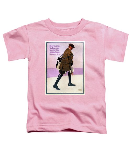 Hermann Scherrer Sporting Tailor - Munich, Germany - Vintage Advertising Poster Toddler T-Shirt