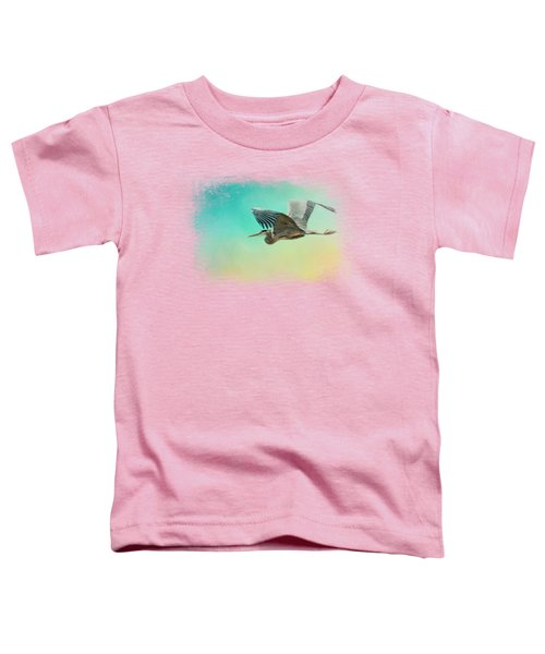 Heron At Sea Toddler T-Shirt by Jai Johnson