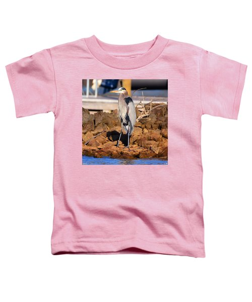 Heron On The Rocks Toddler T-Shirt