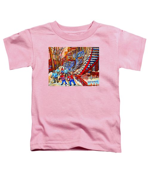 Hockey Game Near The Red Staircase Toddler T-Shirt