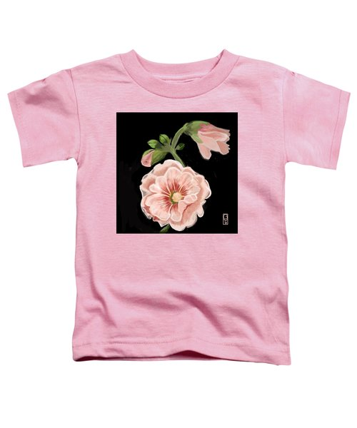 Toddler T-Shirt featuring the digital art Hollyhock by Gerry Morgan