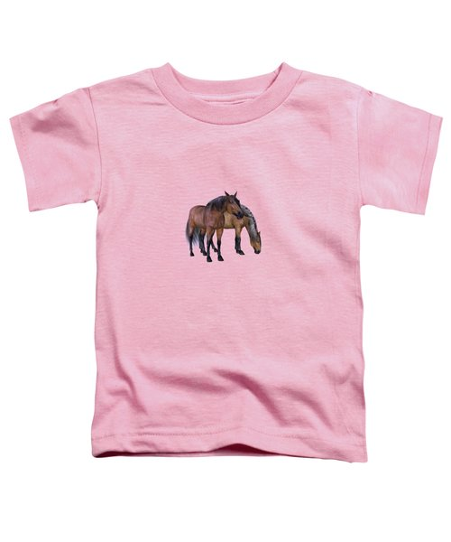 Horses In A Misty Dawn Toddler T-Shirt