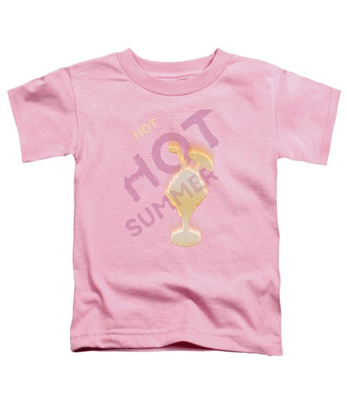 Hot Hot Summer - Burning Ice Cream Bowl - White Toddler T-Shirt