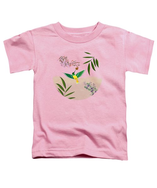 Humming Bird - Circle/clear Background Toddler T-Shirt