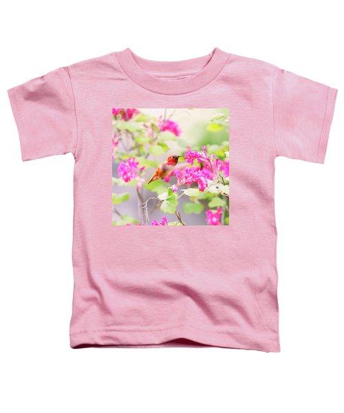 Hummingbird In Spring Toddler T-Shirt