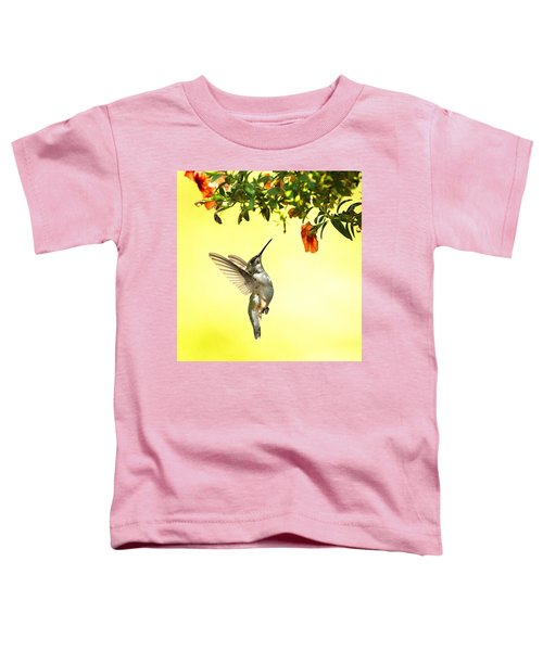 Hummingbird Under The Floral Canopy Toddler T-Shirt