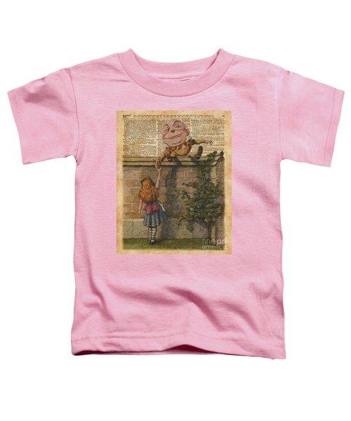 Humpty Dumpty Alice In Wonderland Vintage Dictionary Art Toddler T-Shirt