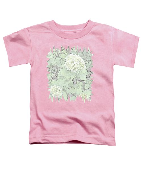 Hydrangea Pencil Sketch With Jagged Edge  Toddler T-Shirt