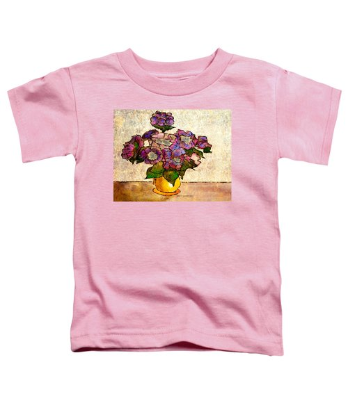 Hydrangeas In Yellow Jug Toddler T-Shirt