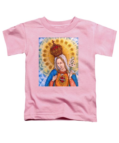 Immaculate Heart Of Virgin Mary Toddler T-Shirt by Kent Chua