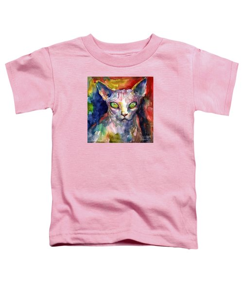 intense watercolor Sphinx cat painting Toddler T-Shirt