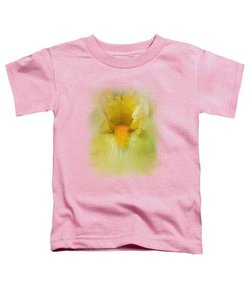 Iris In Lime Toddler T-Shirt by Jai Johnson