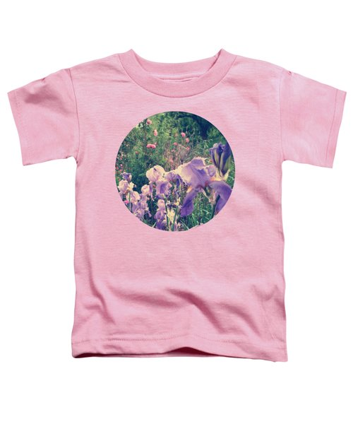 Irises And Roses In The Garden Toddler T-Shirt