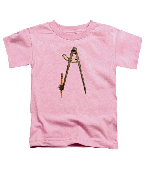 Iron Compass Back Split Color Paper Toddler T-Shirt