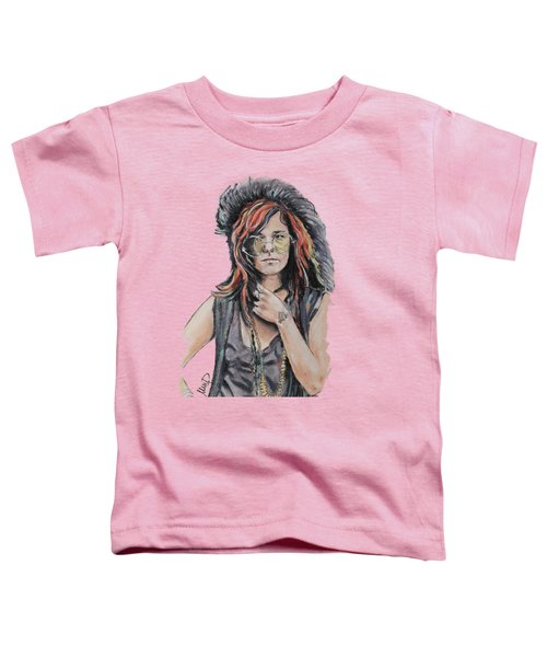 Janis Joplin Toddler T-Shirt by Melanie D